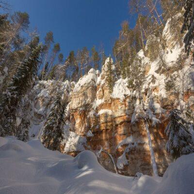 Карстовые скалы Архангельская область «Голубино»