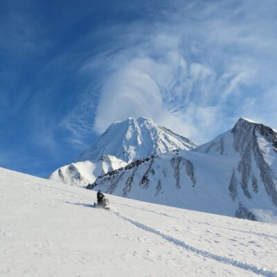 На снегоходе к вулканам Камчатка Россия