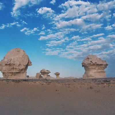 «Грибы» в Белой пустыне Бахария Египет