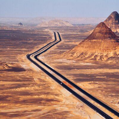 Дорога Через Черную пустыню Бахария Египет