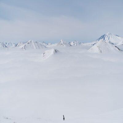Над облаками Камчатка