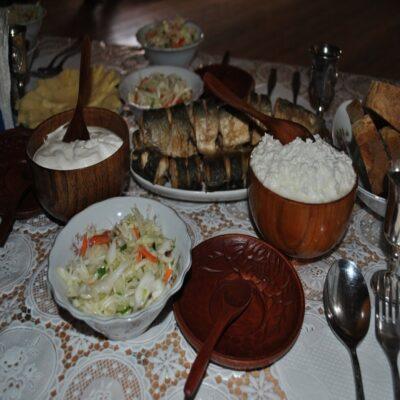 Обед в бурятской деревне Россия