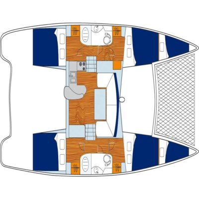 План яхта Leopard 384 2015 Travel Regatta