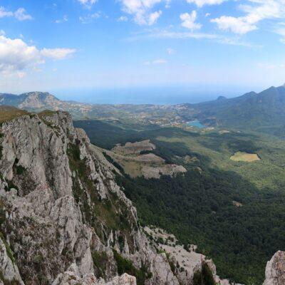 Вид с горы Чатыр-Даг Крым