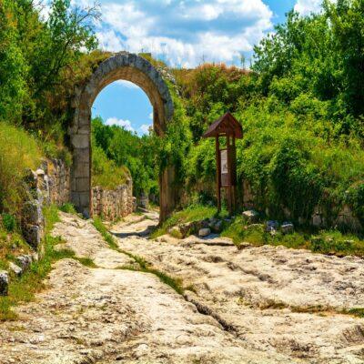 Дорога к Чуфут-Кале Бахчисарай Крым