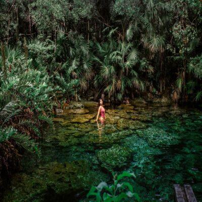 Озеро в джунглях Чичен-Ица Мексика
