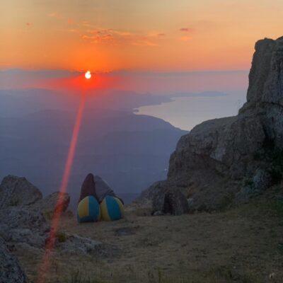 Рассвет с вершины Южной Демерджи Крым
