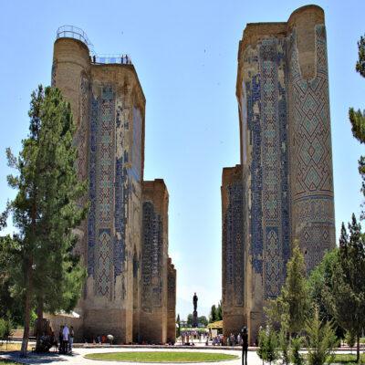 Дворец Тамерлана в Шахрисабз Узбекистан
