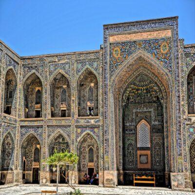 Декор медресе Шердор Самарканд Узбекистан