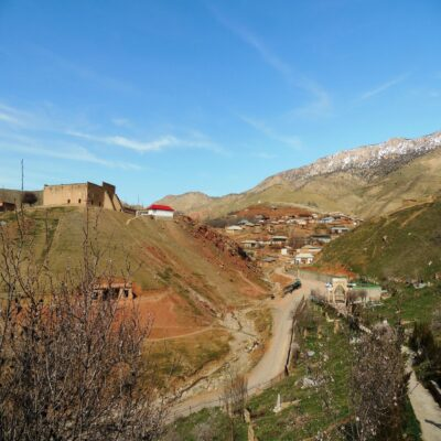 Деревня в горах Кашкадарьи Узбекистан