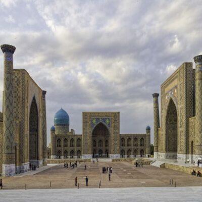 Площадь Регистан в Самарканде Узбекистан