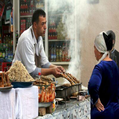 Узбекский стрит фуд Узбекистан