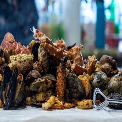 Барбекю из морепродуктов