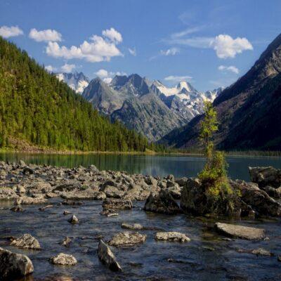 Среднее Мультинское озеро Алтай