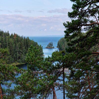 Вид на Ладогу с острова Валаам Ладожское озеро Ладога Карелия