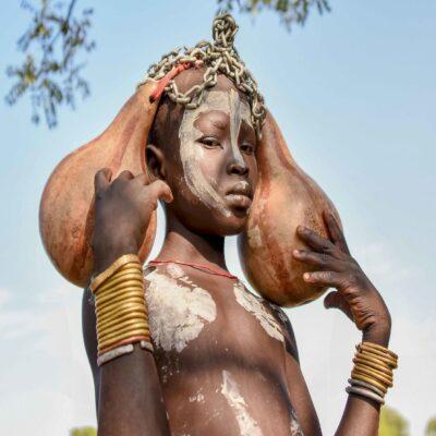 Девушка из племени Мурси Джинка Эфиопия