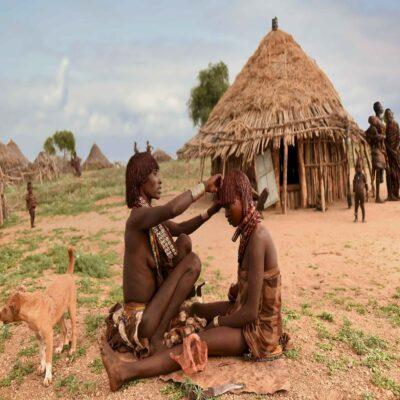 Женщины племени Хамер Джинка Эфиопия