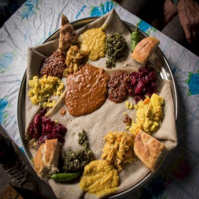 Китфо традиционное эфиопское блюдо Эфиопия