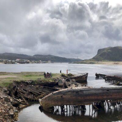 Кладбище кораблей Териберка Мурманская область