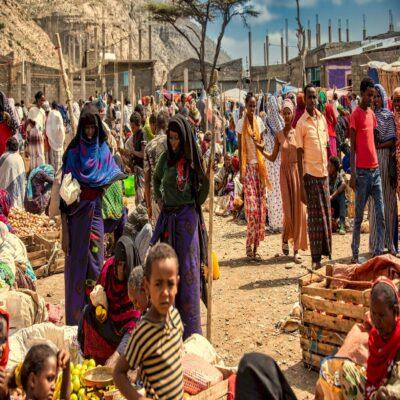 Местный рынок Афарская котловина пустыня Данакиль Эфиопия