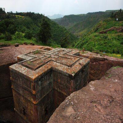 Церковь Бет Гиоргис в Лалибэле Эфиопия