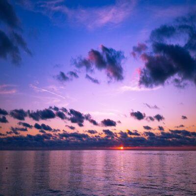 Закат на Адриатическом море Дуррес Албания