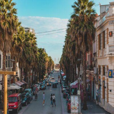 Улицы курортного Дурреса Албания