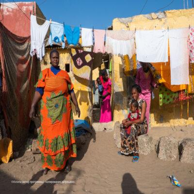 Жители деревни Сенегал